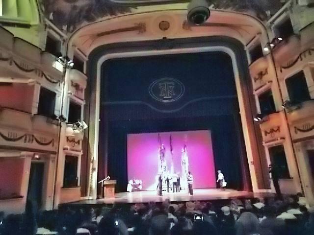 Bello escenario del Teatro Nacional.