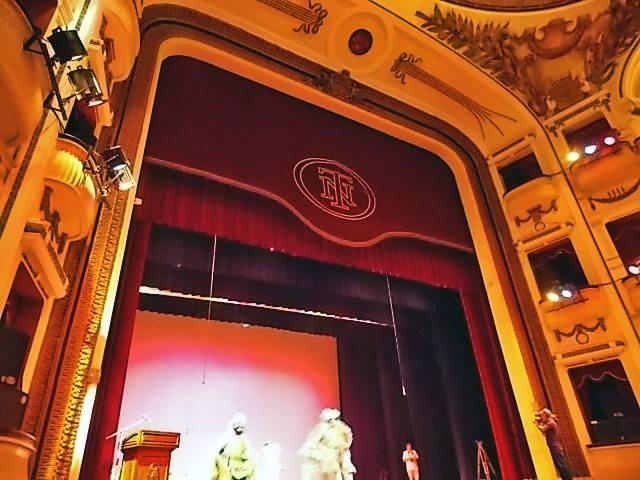 Detalle del escenario del Teatro Nacional de San Salvador (escenario)